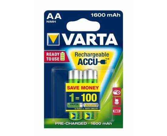 Varta AA ceruza akkumulátor, 1600 mAh, 2 db
