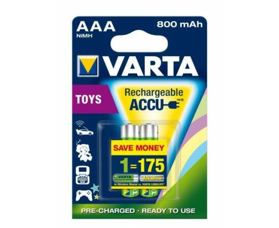 Varta AAA mikro ceruza akkumulátor, 800 mAh, 2 db