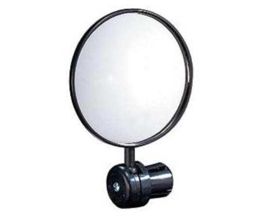 Velotech visszapillantó tükör kormányvégbe, 75mm, fekete