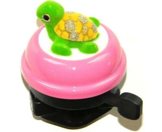 Velotech gyerek csengő, rózsaszín, teknősös