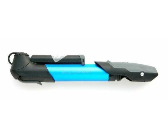 Giyo GP-961A nyomásmérős alumínium minipumpa, 6 bar, minden szeleptípushoz, kék
