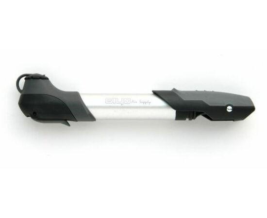 Giyo GP-96A alumínium minipumpa, 6 bar, minden szeleptípushoz, ezüst