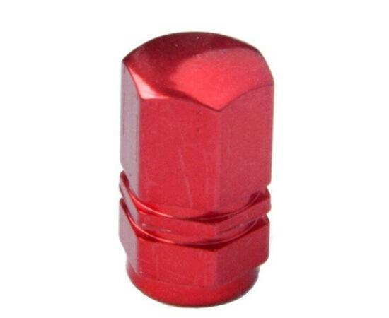 Hatszögletű alumínium szelepsapka, autó szelepes, piros