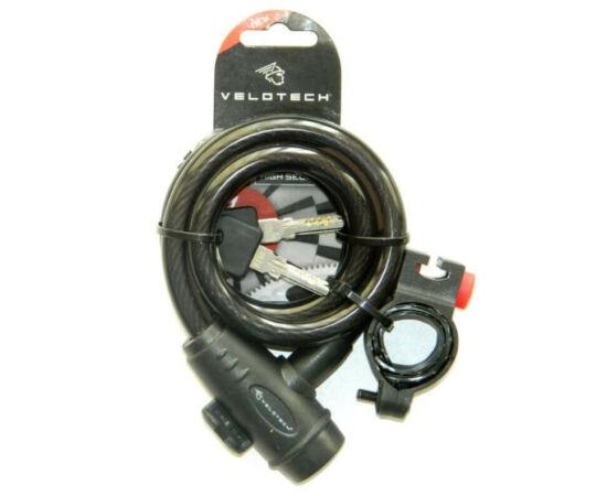 Velotech kulcsos sodronyzár 12 x 1000 mm, Füst színű
