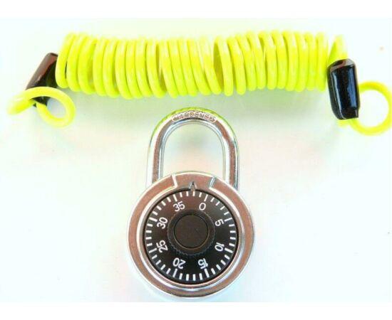 Velotech spirálzár számkombinációs lakattal 4 x 1800 mm, sárga