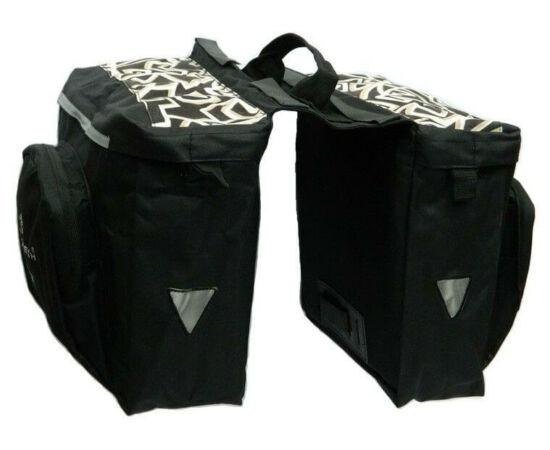 Velotech túratáska hátsó csomagtartóra, nonfiguratív 2x10,9L