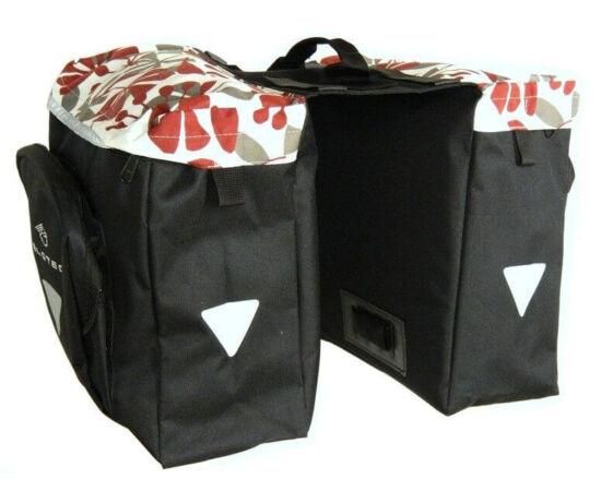 Velotech túratáska hátsó csomagtartóra, virágos 2x10,9L