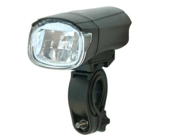 Velotech 1W LED-es első lámpa, fekete-ezüst