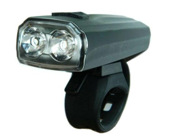 Velotech 2 x 0,5W LED-es USB-ről tölthető első lámpa, fekete