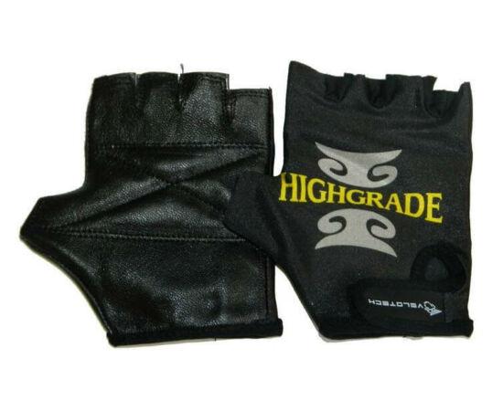 Velotech Highgrade ujjatlan kerékpáros kesztyű, fekete, S