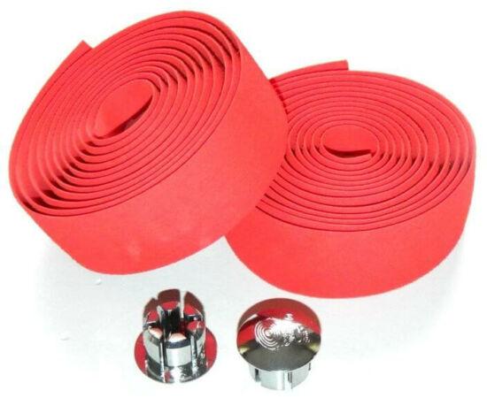 Velotech szövethatású szivacs kormányszalag (bandázs), piros, párban