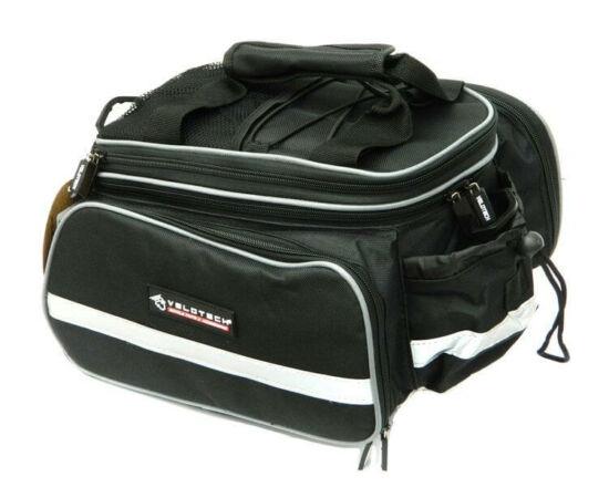 Velotech túratáska hátsó csomagtartóra, classic fekete, 5,8L