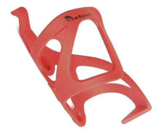 Ostand oldalról nyitott kulacstartó, jobbos, műanyag, piros