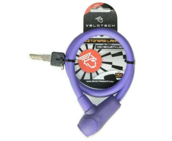 Velotech kulcsos sodronyzár 12 x 650 mm lila