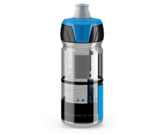Elite Crytal Ombra kulacs 550 ml, csavaros, füst színű, kék