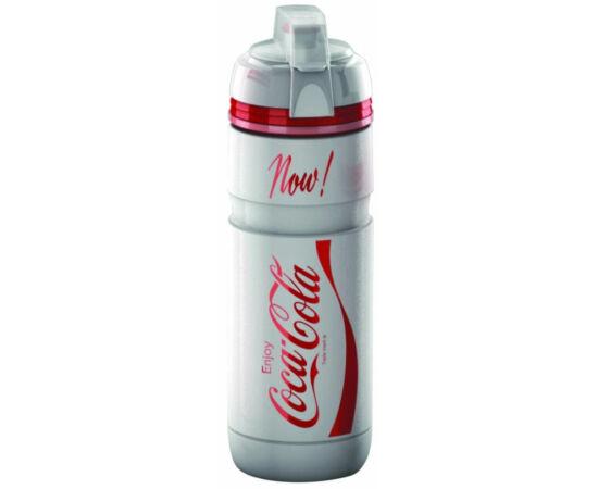 Elite Corsa Coca-Cola kulacs 750 ml csavaros, védőkupakkal, fehér