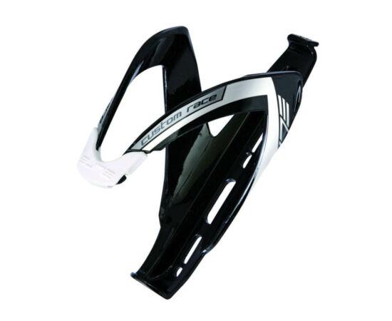 Elite Custom Race kulacstartó, üvegszálas műanyag, fényes fekete-fehér