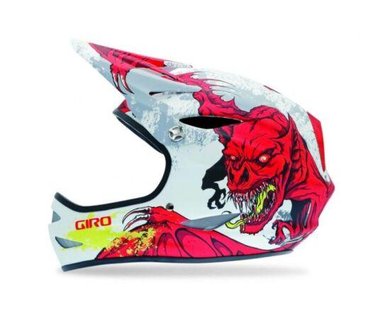 Giro Remedy piros - fehér Démon L-es Fullface bukósisak