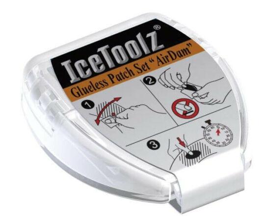 IceToolz öntapadós gumiragasztó folt készlet, 25 mm, 6 db