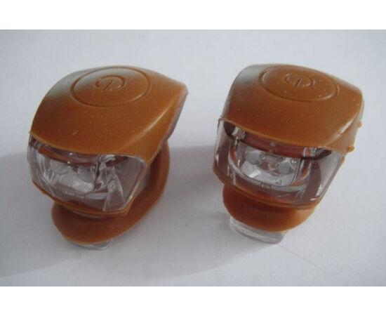 Kalobike 2 LED-es első + hátsó villogó szett, barna