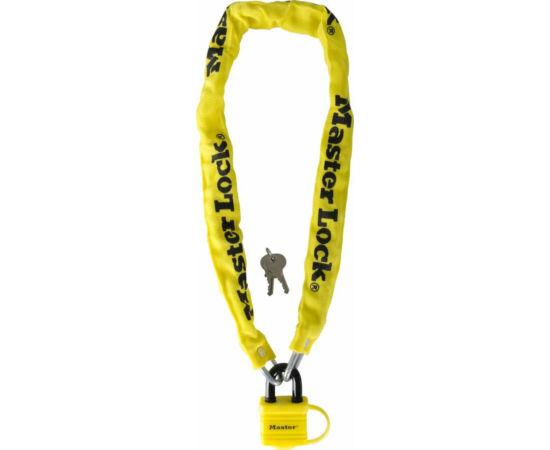 Master Lock 8390 láncos lakat, 90cm x 6mm, sárga