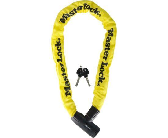 Master Lock 8391 integrált láncos lakat, 90cm x 8mm, sárga