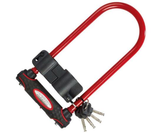 Master Lock U-lakat 210 x 110 x 13 mm, piros