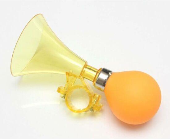 Kerékpár duda, műanyag, sárga