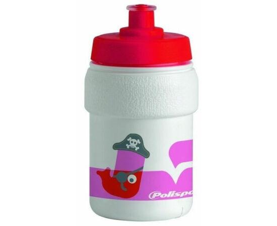 Polisport Junior Guppy gyerek kulacs, 300 ml, csavaros, fehér-rózsaszín