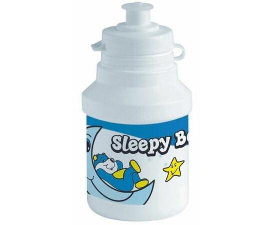 Polisport Junior Sleepy Bear gyerek kulacs, 300 ml, pattintós, fehér-kék