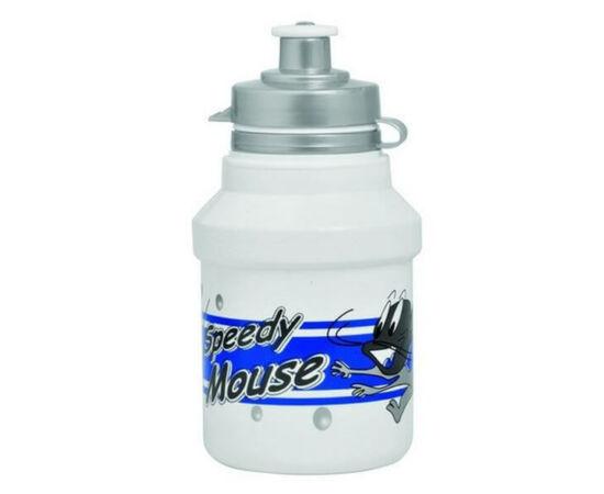 Polisport Junior Speedy Mouse gyerek kulacs, 300 ml, pattintós, fehér-kék
