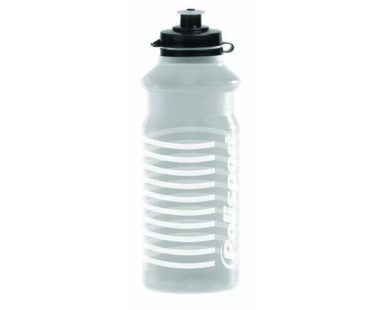 Polisport White Stripes kulacs 700 ml, pattintós, átlátszó