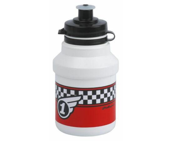 Polisport Junior P3 Race gyerek kulacs, 300 ml, pattintós, fehér