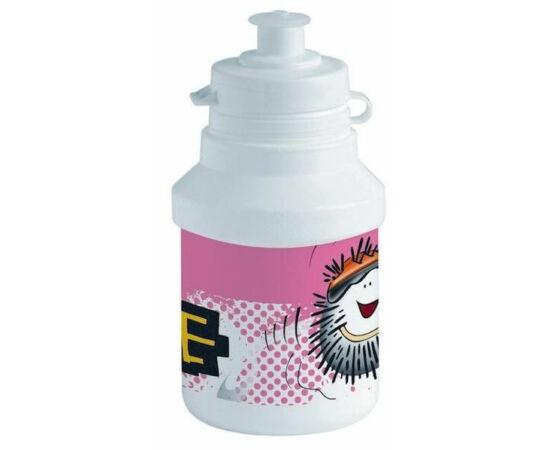 Polisport Junior Spike gyerek kulacs, 300 ml, pattintós, fehér-rózsaszín