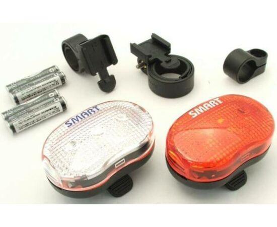 Smart LS-026-02 3 LED lámpa szett, ( első és hátsó), elemekkel