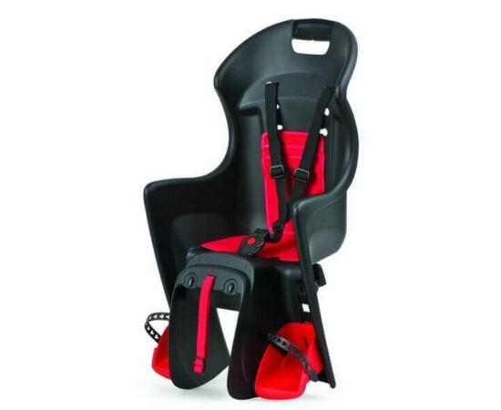 Polisport Boodie csomagtartóra szerelhető gyerekülés, fekete-piros