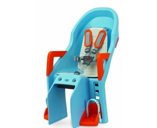Polisport Guppy csomagtartóra szerelhető gyerekülés, kék-narancs