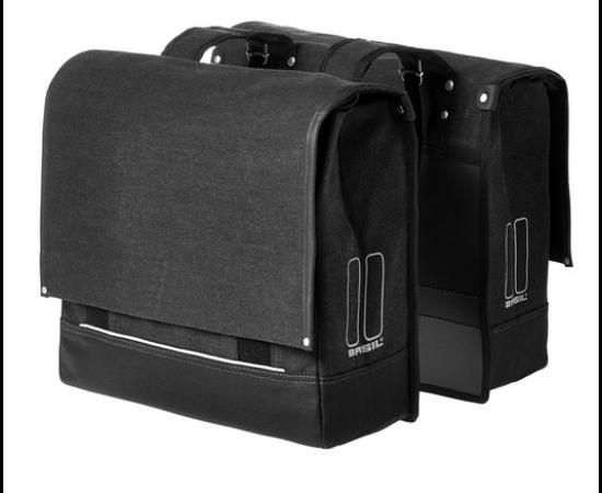 Basil Urban Fold két részes táska csomagtartóra, 2x25L, fekete