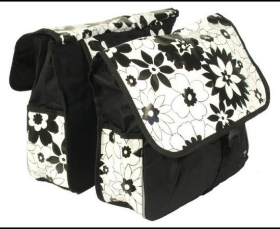 Roswheel túratáska hátsó csomagtartóra, 2 részes, 28L, virágmintás