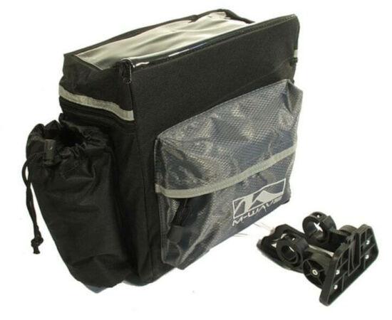 M-Wave kormányra szerelhető, gyorszáras, térképtartós táska, fekete