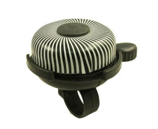 Neuzer csíkos csengő, 52 mm, fekete-fehér
