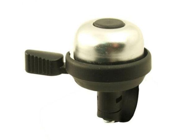 Neuzer műanyag-acél csengő, 40 mm, fekete - krómozott