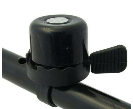 Neuzer műanyag-acél csengő, 40 mm, fekete