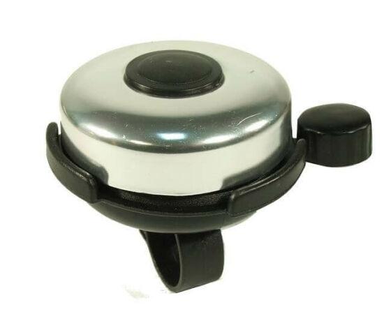 Neuzer műanyag-acél csengő, 52 mm, fekete - krómozott