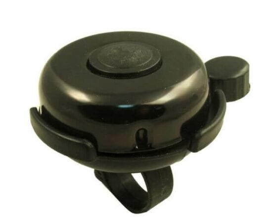 Neuzer műanyag-acél csengő, 52 mm, fekete