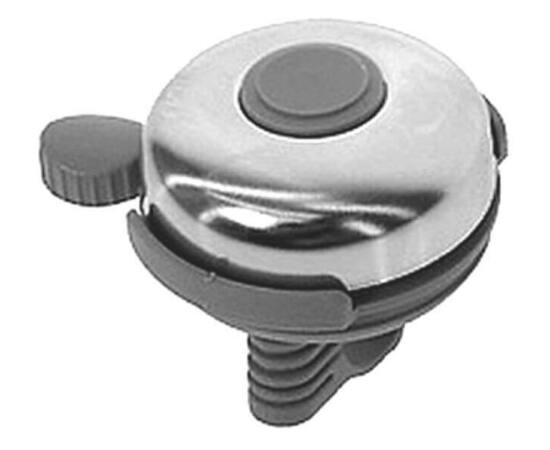 Neuzer műanyag-acél csengő, 52 mm, szürke - krómozott