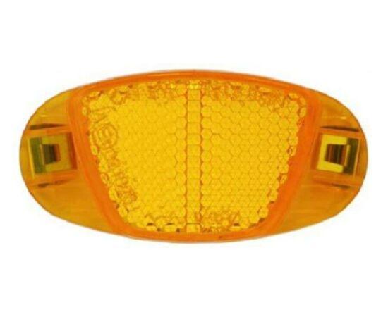 Cateye küllőprizma, fém betétes. narancs, 75 x 35 mm, 1 db