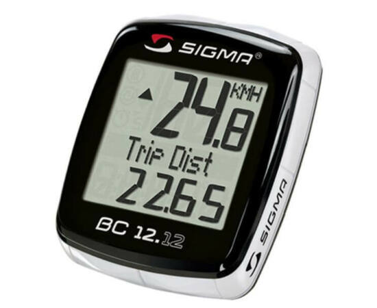Sigma 12.12 vezetékes kerékpár komputer, fekete