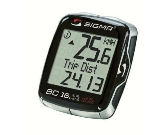Sigma 16.12 vezeték nélküli kerékpár komputer, fekete