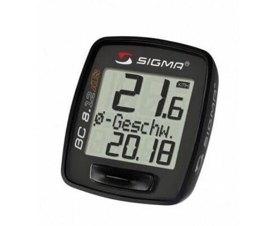 Sigma 8.12 vezeték nélküli kerékpár komputer, fekete